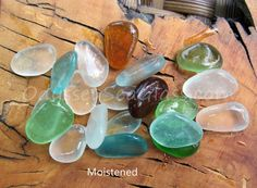 SHIMMERING SHORES ~ buy real Sea Glass ~  20 pcs in Teal, Aqua, Honey Amber, Seafoam, Mint ~ from the tropical Peruvian coast HU-0085 by OdysseySeaGlass on Etsy