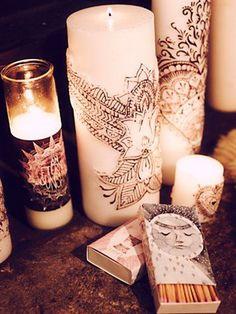 Free People: Henna Lotus Pillar Candle