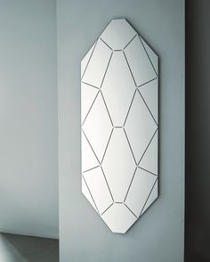 Glas Italia. The best. KAGADATO selection. **************************************BRILLANTE design Alessandro Mendini | A series of mirrors in shaped crystal with engraved decorations.
