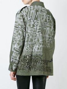 Faith Connexion - Graffiti Print Military Jacket
