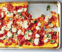 A Gluten-Free Polenta Caprese Pizza for the Weekend