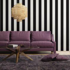 STRIPES Black - GREY / BLACK - SHOP BY COLOR  - SHOP - Tempaper Designs