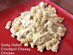 Zesty Italian Crockpot Cheesy Chicken