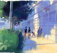 "99 Likes, 1 Comments - 山本重也 (@shigeya_yamamoto) on Instagram: ""#Watercolor #水彩 #tokyo #東京 #japan #日本 #イラストレーション #illustration #風景 #landscape #日差し #初夏 #earlysummer"""