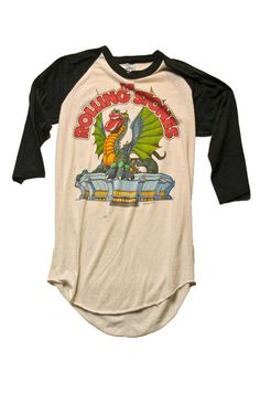 Nothing speaks to a true rock star like a vintage concert t-shirt, how about this one - The Rolling Stones Tour Vintage T-Shirt 1981 Vintage Concert T Shirts, Concert Tees, Vintage Shirts, Vintage Outfits, Rock T Shirts, Band Shirts, Tee Shirts, Sweat Shirt, Rolling Stones Tour