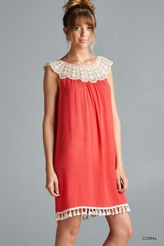 Lovebird Dress - Coral - SALE