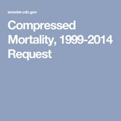 Compressed Mortality, 1999-2014 Request