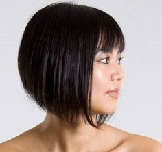 The 25 Top Graduated Bob Hairstyle 2014 : Graduated Bob Hairstyle For Asian Girl With Bang