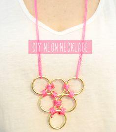 Neon Necklace DIY
