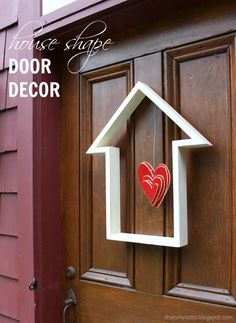 house shape door decor (change the center decor with the holiday/season)