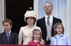 Sylvana, Countess of St Andrews and the Earl of St. Andrews with their children, left to right: Edward, Amelia, Marina