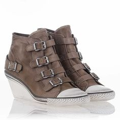 Genial Wedge Sneaker Perkish Leather, ASH