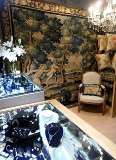 Robin Haydock at Grays Antiques - Fine Antique Jewellery and Antique Textiles & Tapestries.