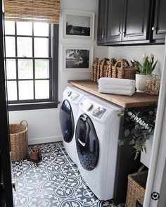 "Style Me Pretty Living (@smpliving) on Instagram: ""With a laundry room like this you can wash your clothing in style!"