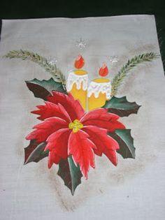 Resultado de imagem para manteles pintados a mano de navidad