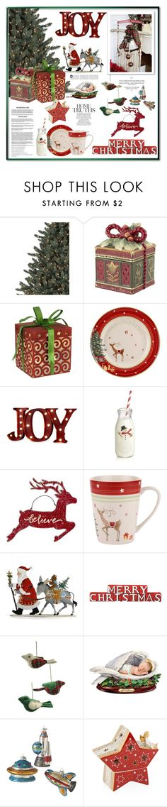 """Holiday Home"" by terry-tlc on Polyvore featuring interior, interiors, interior design, home, home decor, interior decorating, Fitz and Floyd, Order Home Collection, Crate and Barrel and Spode"
