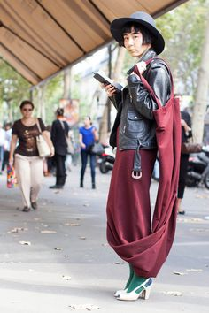 82 Chic Street Style Snaps From Paris - IDK what's going on here exactly but i know i like it!
