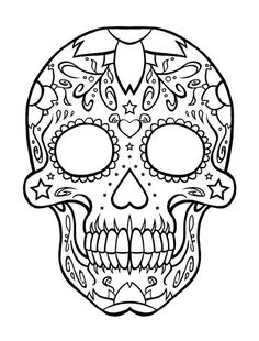 Day Of The Dead Skull Coloring Sheets free printable day of the dead coloring pages skull Day Of The Dead Skull Coloring Sheets. Here is Day Of The Dead Skull Coloring Sheets for you. Day Of The Dead Skull Coloring Sheets pin heather keenan. Skull Coloring Pages, Coloring Pages To Print, Free Printable Coloring Pages, Coloring Book Pages, Coloring Pages For Kids, Coloring Sheets, Adult Coloring, Sugar Skull Tattoos, Sugar Skull Art