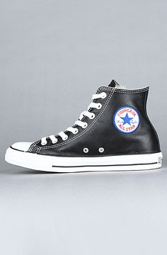 Converse  The Chuck Taylor All Star Hi Sneaker in Black Leather - from karmaloop.com Save 20% on this item and your entire order with Karmaloop repcode : DISCOUNTED   see karmaloopcodes.co/ for instructions on how to use this code