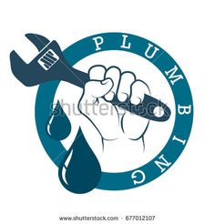 Plumbing Logo Template With Retro Or Vintage Style
