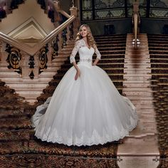 Image result for long sleeve ball wedding dresses