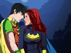Babs Gordon and Dick Grayson on DC-Couples - DeviantArt Nightwing And Batgirl, Batgirl And Robin, Batwoman, Marvel Avengers Assemble, Marvel E Dc, Dc Couples, Hq Dc, Richard Grayson, Fanart