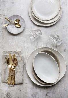 The Prop Dispensary - Hege in France ceramics gold cutlery styling