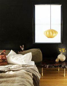 20-Plus Bedroom DIYs Worth Pinning: Learn how you can re-create this cushiony headboard. Source: The Brick House