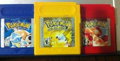 Grape Game Boy Color System used Classic Video Games, Retro Video Games, Gameboy Color Pokemon, Pokemon Red, Charmander, Pikachu, Arcade, Nintendo Eshop, Kids Board