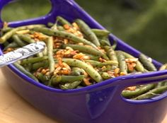 Lemony Green Beans with Almond Breadcrumbs | Recipes | Pinterest ...