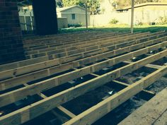 Bearers and joists in place