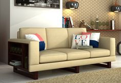 Buy Bailey 3 Seater Fabric Sofa online in Ivory Nude to get dazzling living room interiors. The beautiful design of #3SeaterSofa with storage space on one side is really pleasing & turns to be useful. Shop three seater sofa online at affordable price in #NaviMumbai #Chennai #Pune