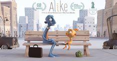 Alike è un corto d'animazione che mette in guardia gli adulti e i genitori dal pericolo dell'omologazione, e fa riflettere sulle cose importanti della vita.