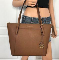 f887c4547ac Nwt michael kors large saffiano leather shoulder tote handbag bag brown   348.00