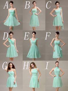 mint bridesmaid dresses Dress E