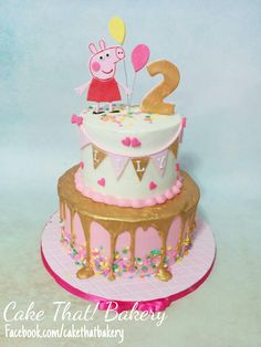 pink and gold Peppa