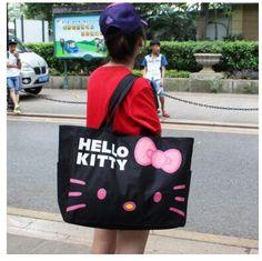 Hello Kitty Women Canvas Bag Women Canvas Shopping Bag bolsa feminina Beach Bag Women handbag Crossbody Shoulder Bag //Price: $37.02 & FREE Shipping //     #hashtag1