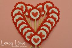 Valentine Cupcake Mini Toppers Appetizer Sticks  by LeroyLime, $10.00