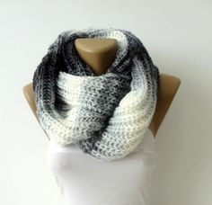 Knit Scarf Infinity Scarf Chunky Scarf Winter Scarf Circle Scarf Men Scarves Wrap Scarf Winter Accessories Christmas Gifts for her   by senoAccessory on Etsy https://www.etsy.com/listing/122129463/knit-scarf-infinity-scarf-chunky-scarf