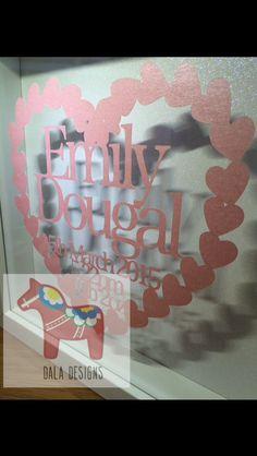 New Baby Hearts Papercut