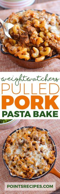 PULLED PORK PASTA BAKE (Weight Watchers SmartPoints)