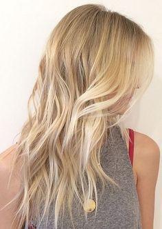 buttery blonde highlights