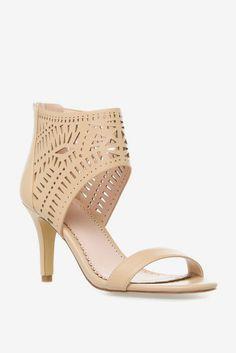 Iliya laser cutout midheel sandal