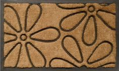 """Flowers Heavy-duty Coir and Rubber 18""""x30"""" by Momentum Mats. $24.99. Makes a Great Gift - Free Gift Enclosure. Traps Dirt and Moisture. Fade Resistant, Color Fast and Weather Tolerant. 100% Natural Coir and Rubber for Long-Lasting Wear and Durability. In Stock - Ships in 1-2 days. Momentum Mats has been a trusted manufacturer for 28 years and takes great pride in the fact that we use only 100% natural coir and rubber in our doormats.  Our manufacturing facilities have the mo..."""