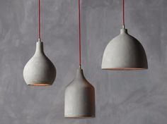 Cement pendant lamp HORMIGON by NAMUH STUDIO