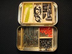 Altoids tin miniature sized but fully funtional fishing tacklebox