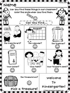 EVERY SINGLE freebie for your Meet and Greet or Open House as seen on Kindergarten Klub  www.kindergartenklub.com