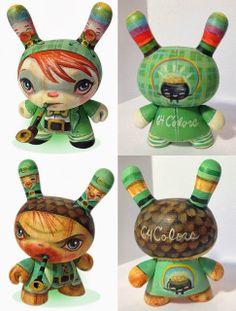 #onTOYSREVIL: Lucky Charmer & Lucky Charming Dunny customs by @Marshall Mashumaro