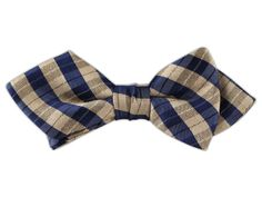 - Profile Plaid - Champagne (Linen Diamond Tip Bow Ties)
