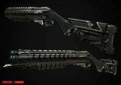 ArtStation - Evolve - Burst Shotgun, Mike Brainard